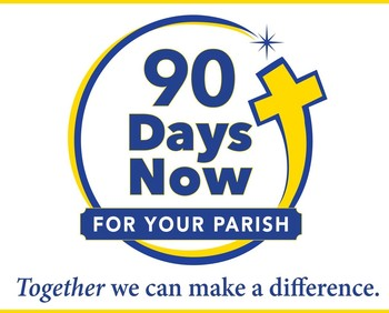 Logo of the 90 mdays now for your parish campaign